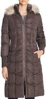 T Tahari Elizabeth Faux Fur-Trim Long Puffer Coat