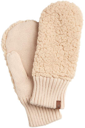 Timberland Recycled Knit Sherpa Fleece Mittens