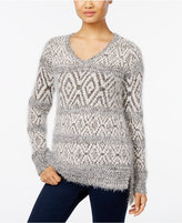 Style&Co. Style & Co. Fair Isle Eyelash Sweater, Only at Macy's