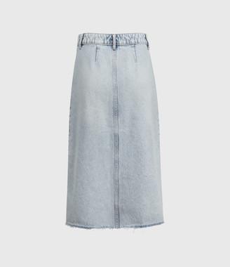 AllSaints Bonnie Denim Midi Skirt