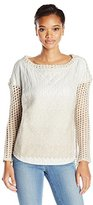 Tracy Reese Women's Felted Quilted Shirtail Top