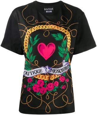 Boutique Moschino graphic-print cotton T-shirt