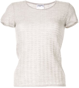 Chanel Pre Owned 2009 ribbed knit T-shirt