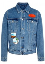Kenzo Badge-appliquéd Denim Jacket