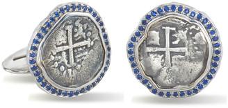 Jorge Adeler Men's Ancient Coin 18k White Gold Cufflinks