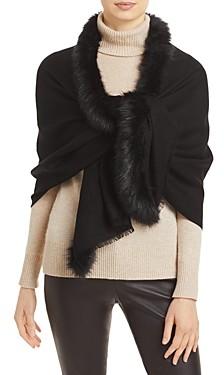 Fraas Faux Fur Trim Wrap - 100% Exclusive