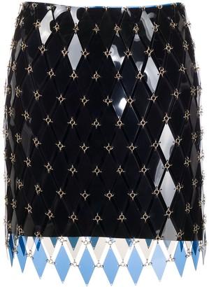 Paco Rabanne Geometric-Panel Mini Skirt