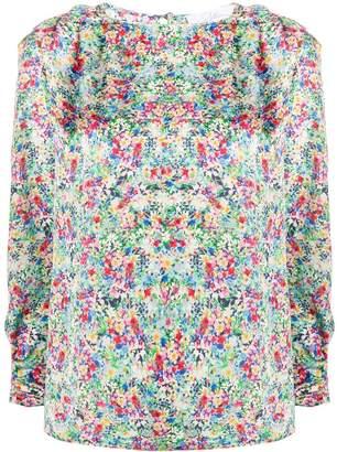 Soallure Floral Print Loose-Fit Blouse