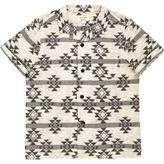 River Island Mini boys cream geometric print shirt