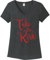 Black Frost 'Take the Risk' V-Neck Tee - Plus