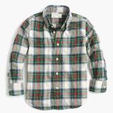 J.Crew Kids' lightweight flannel shirt in festive plaid