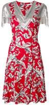 J.W.Anderson chainmail trim printed dress