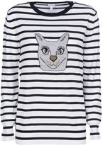 Loewe Striped Cat-embroidered Knitted Top