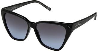 Sam Edelman Plastic Two-Tone Cat Eye (Black) Fashion Sunglasses