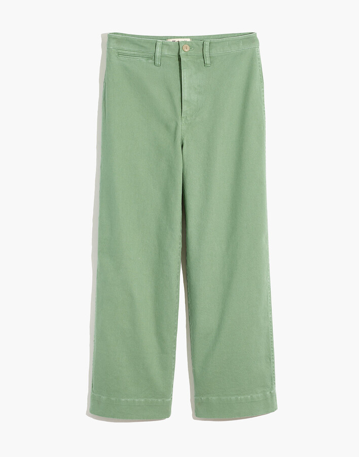 Thumbnail for your product : Madewell Curvy Slim Emmett Wide-Leg Crop Pants