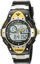 PASNEW Unisex N6 Water-Proof Dual Time Quartz Black Sport Watch