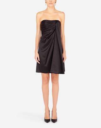 Dolce & Gabbana Short Silk Satin Dress