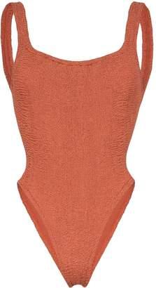 Hunza G Isolde Domino crinkle swimsuit