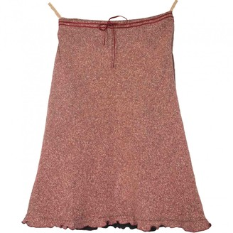 Burberry Red Cotton Skirt for Women Vintage