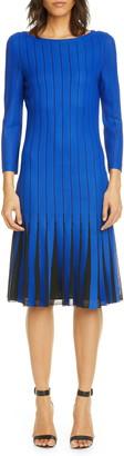 St. John Perforated Knit Dress
