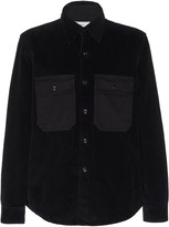 Ami Denim-Trimmed Cotton-Corduroy Shirt