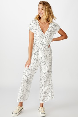 Cotton On Woven Janine Short Sleeve Jumpsuit