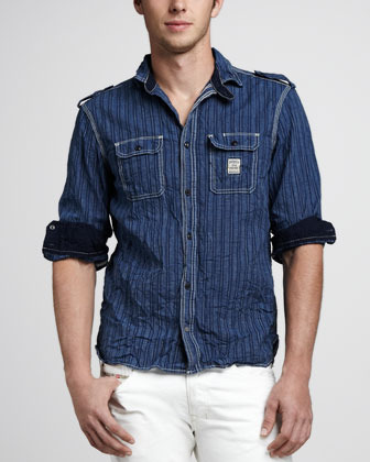 Diesel Stepy Striped Denim Shirt