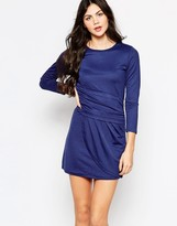 Wal G Dress With Long Sleeves And Rouched Front