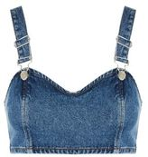 Topshop Moto denim buckle bralet