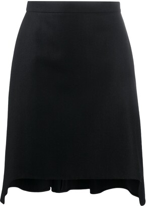 Alexander McQueen pleated A-line skirt