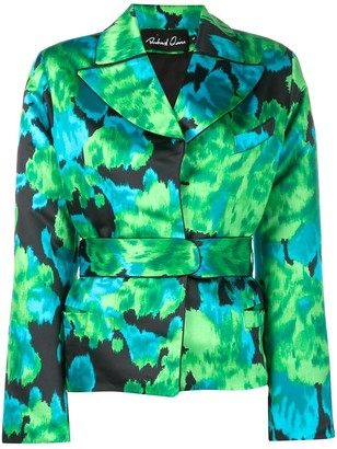 Richard Quinn Floral Print Cinched Jacket