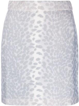 Kenzo Cheetah-Print Knit Skirt