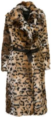 Alanui oversized leopard print coat