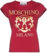 Moschino cap-sleeve logo T-shirt
