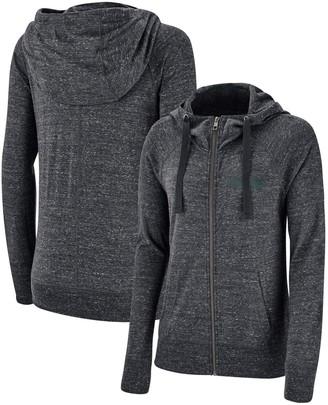 Nike Women's Heathered Anthracite Michigan State Spartans Gym Vintage Graystory Raglan Full-Zip Hoodie