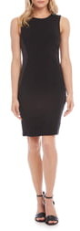 Karen Kane Faux Leather Inset Sheath Dress