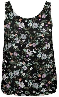 Dorothy Perkins Womens **Vero Moda Black Sleeveless Floral Print Top, Black