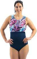 Dolfin Aquashape Wysteria Color-Block 1-Piece Swimsuit
