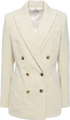 Bella Freud Bianca Double-breasted Cotton-corduroy Blazer