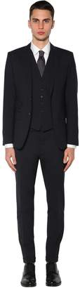 DSQUARED2 London Three Piece Stretch Wool Suit
