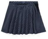 Ralph Lauren Polka-Dot Twill Circle Skirt Navy/White 10