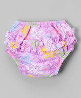 I Play Queen Anne's Lace Ruffle Snap Swim Diaper - Infant