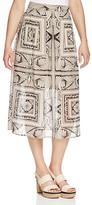 FINITY Geometric Print Midi Skirt
