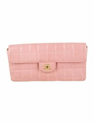 Chanel Square Quilt E/W Flap Bag Pink