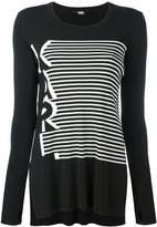 Karl Lagerfeld striped top - women - Polyester/Viscose - XS