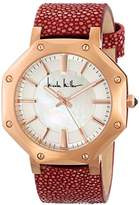 Nicole Miller Women's NMC014E 'Dayna' Pink Stingray Strap Analog Watch