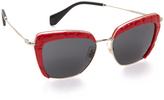 Miu Miu Croc Rim Sunglasses