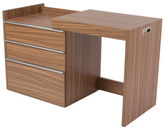 Euro Style Dew 3-Drawer Convertible Desk