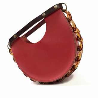 Angela Valentine Handbags Mallory Top Handle Circle Bag in Saffron Red
