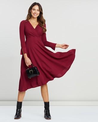 Closet London Long Sleeve Wrap Dress